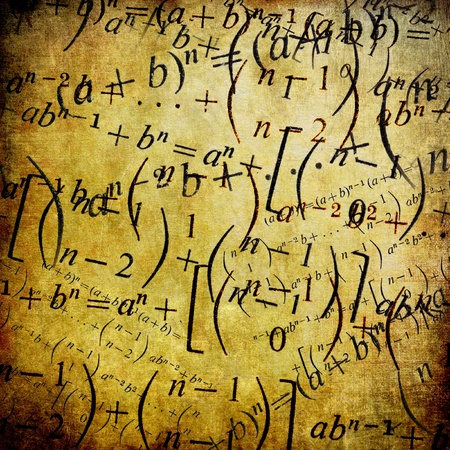 Maths formulas, vintage background photo