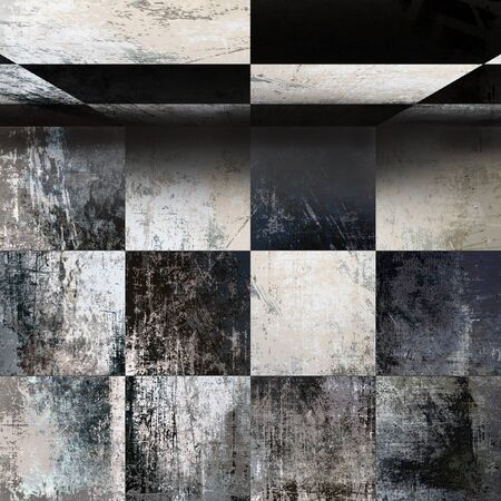 antiqued: Abstract interior, top view grunge background Stock Photo