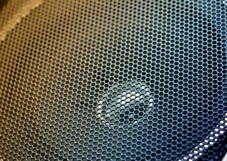 speaker grill: Close up speaker grill Stock Photo