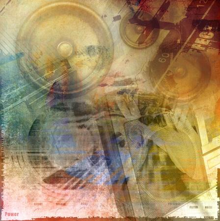 Abstract grunge illustration, art background Stock Illustration - 12683115