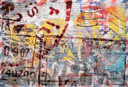 graffiti brown: Grunge fondo de color, sellos Foto de archivo