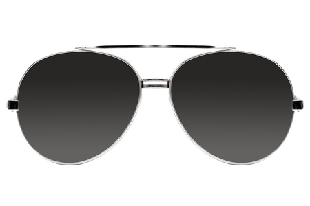 protecting spectacles: Aviator sunglasses isolated on white Stock Photo