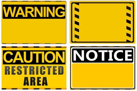 superficie: Se�al de peligro aislado en blanco, ajuste