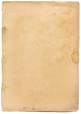 Old paper texture isolated on white Stock Photo