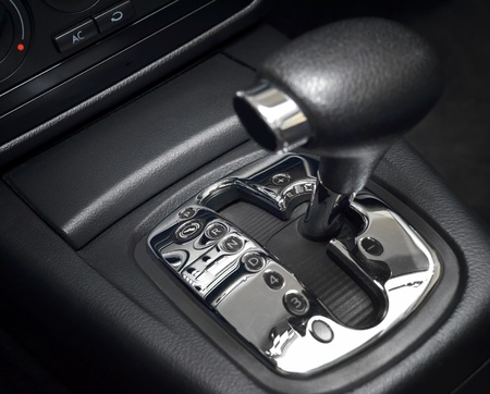 Automatic gear shift, manual mode, close up photo