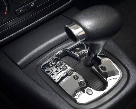 Automatic gear shift, manual mode, close up photo