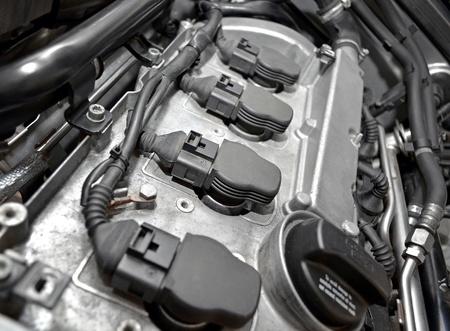 mecanico automotriz: Motor de un coche de cerca Foto de archivo