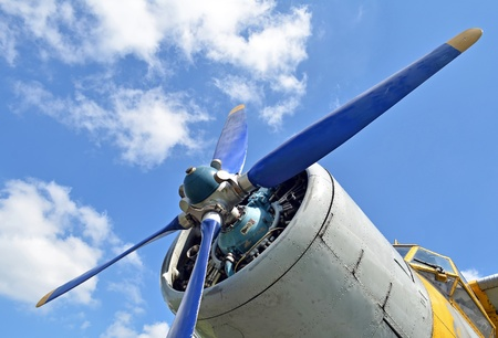 turboprop: Old turboprop aircraft engine, close up Stock Photo