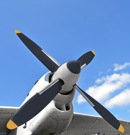 propellers: Turboprop aircraft engine Stock Photo
