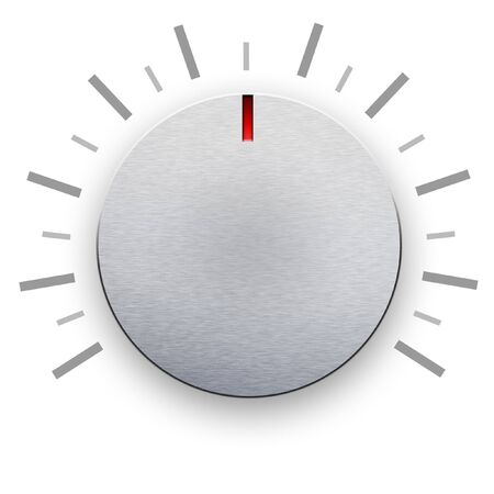 Volume knob on white background photo