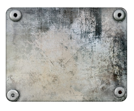 metal: Metal plate isolated on white background
