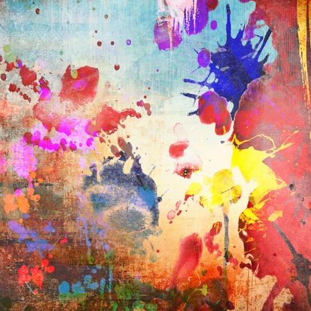 Watercolor background, grunge colorful illustration