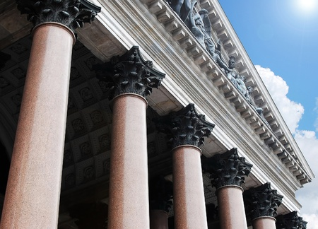 supreme court: Old columns and sky