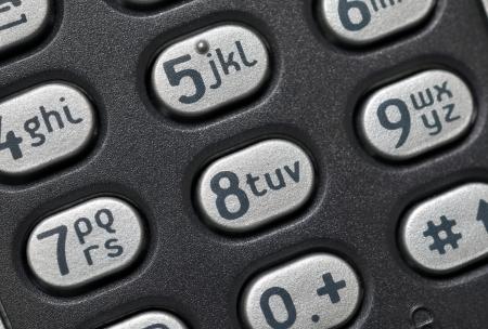 Phone keypad close up photo