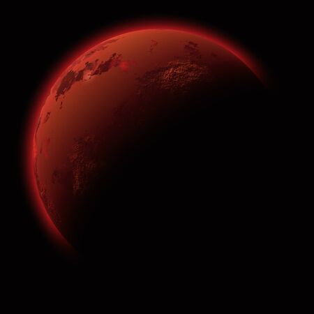 red earth: Red planet Stock Photo