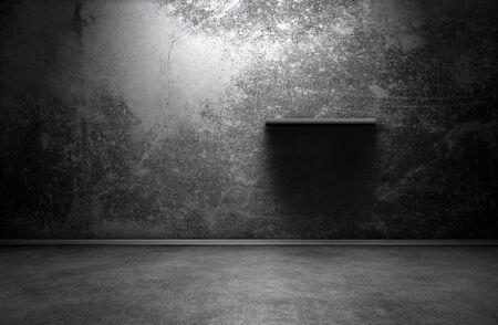 Dark room interior with shelf Stock Photo - 13914205