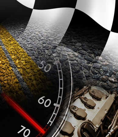 checker flag: Racing background