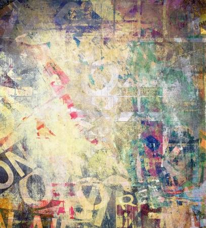 graffiti brown: Words, color grunge illustration