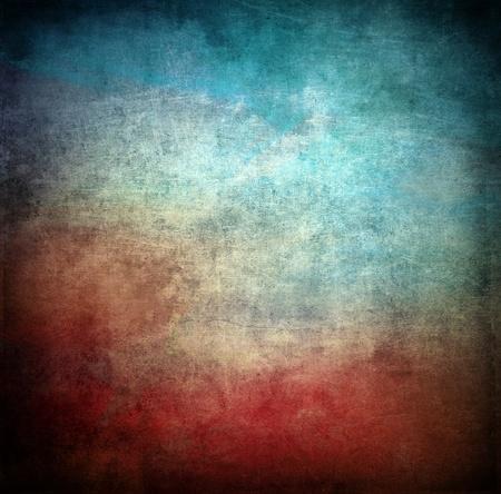 녹슨: 그런 지 색상 질감, 녹색, 붉은 색, 오래 긁힌 표면 스톡 사진