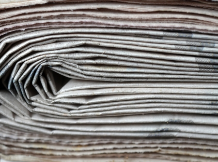 Newspaper stack photo