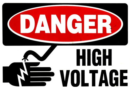 high voltage sign: High voltage sign Stock Photo