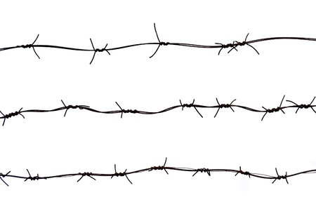 barbwire: Barbed wires isolated on white background