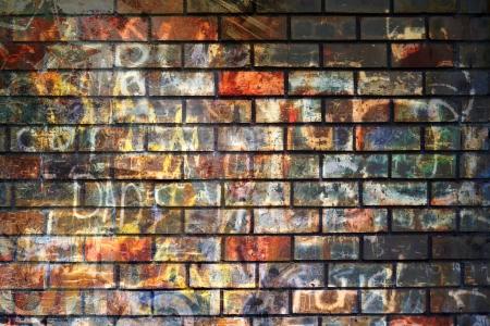 muro rotto: Graffiti parete, grunge