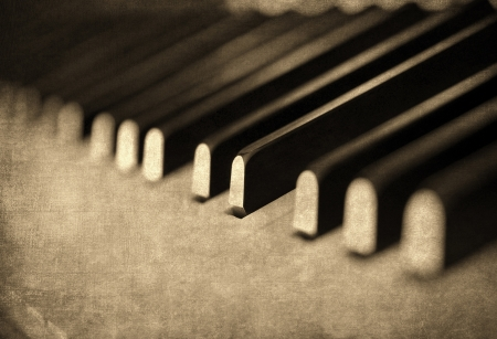 Vintage musical background, piano keyboard photo