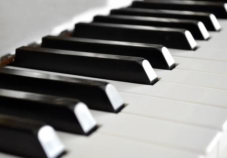 teclado de piano: Llaves del piano de cerca