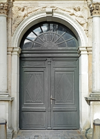 Old door, Antique church detail photo