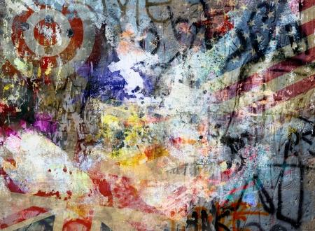 graffiti brown: Art grunge background, color illustration Stock Photo