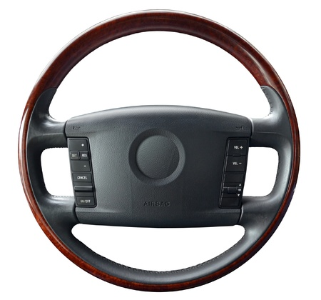 Steering wheel on white Stock Photo - 15070533