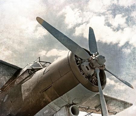 Alte Flugzeuge, Doppeldecker im Retro-Stil Standard-Bild