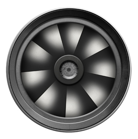 Turbine, turbocharger on white background photo