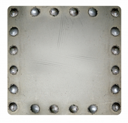riveted metal: Riveted metal plate