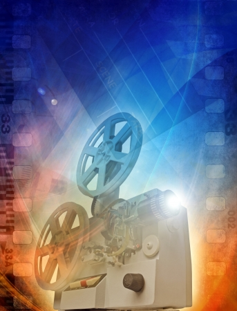 Old film projector, abstract illustration illustration