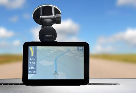 gps navigation: Car navigation system Stock Photo