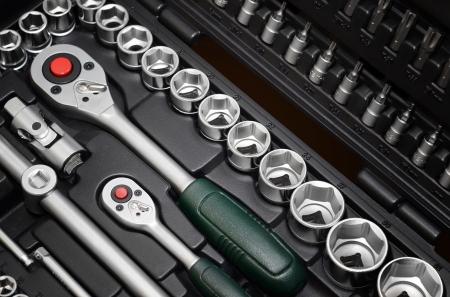 garage automobile: Fermer Boîte à outils
