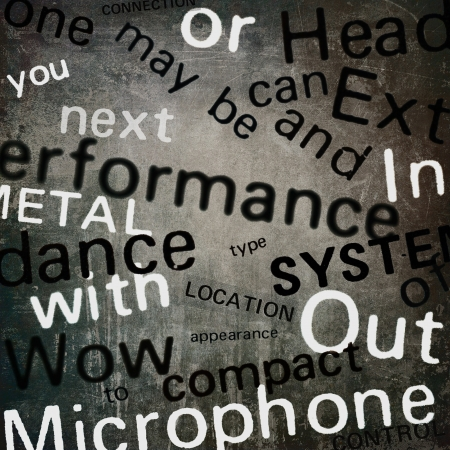 Words collage, grunge background photo