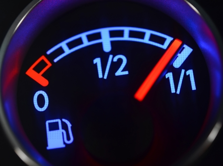 fuel economy: Fuel gauge close up