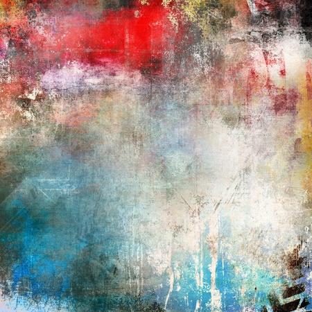 Art Grunge Hintergrund, bunte Illustration Standard-Bild