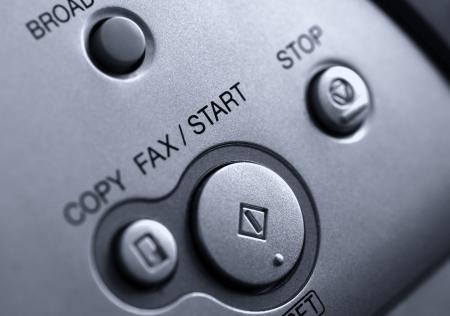 Fax machine detail close up Stock Photo