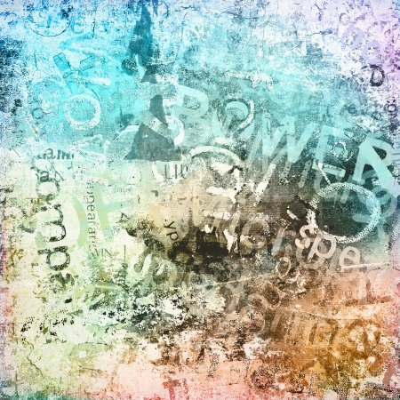 grunge music background: Art grunge background, colorful illustration