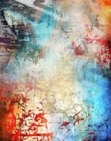 Art background, grunge coloful Darstellung