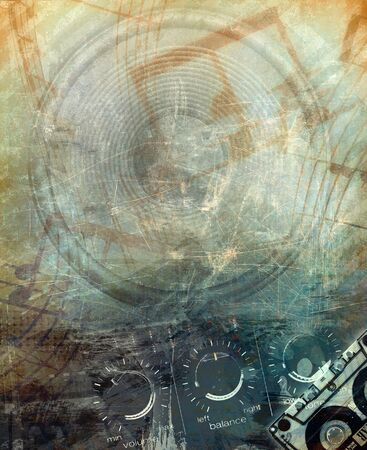 interesting music: Grunge music background