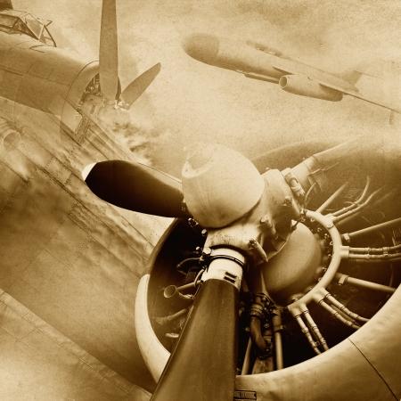 military aircraft: Retro aviation, grunge background