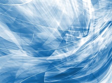 random pattern: Abstract waves, light blue background Stock Photo