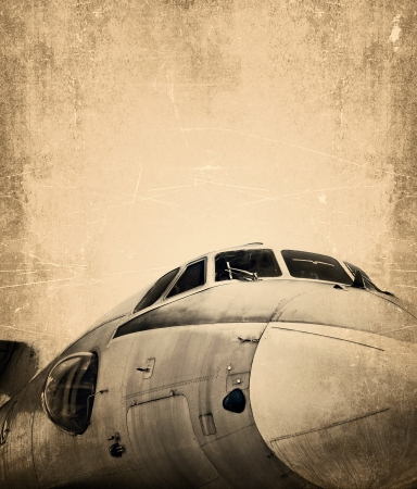 Old aircraft, grunge background Stock Photo - 20959809