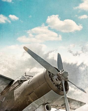 Altes Flugzeug hautnah