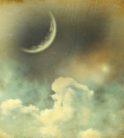 Planet in space vintage background Stock Photo - 20959832